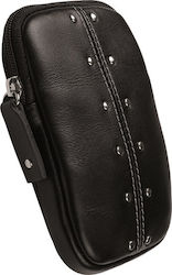 Krusell 48184 Kalix Leather Camera Case (Black)