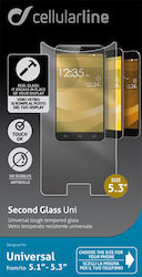 "Cellular Line Tempered Glass (Universal 5.1"" to 5.3"")"