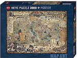 Pirate with Map of the World Standard 2000pcs (29847) Heye