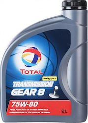 Total Βαλβολίνη Transmission Gear 8 75W-80 2lt