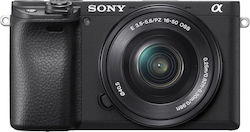 Sony α6400 Kit (16-50mm f/3.5-5.6 PZ OSS) Black