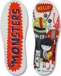 Christou 1910 Kids Arch Support Insoles Monsters Hello