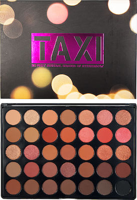 W7 Cosmetics Taxi 35 Colour Palette Fiery Neutral Shades Eyeshadow