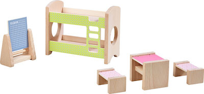 Haba Little Friends Dollhouse Furniture Children's Room for Two