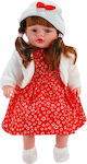 Doll with Red Floral Dress