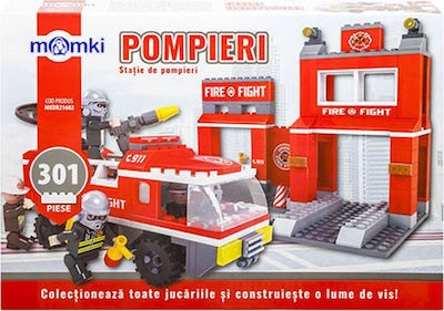 Momki and Friends Fire Fight Station & Vehicle 301τμχ