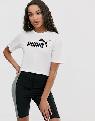 Puma Elevated Crop Logo Tee