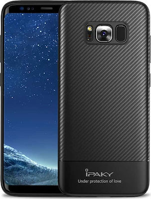 iPaky Carbon Fiber Back Cover Μαύρο (Galaxy S8+)