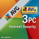 AVG Internet Security 2019 (3 Licences , 1 Year) Key