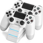 Snakebyte Twin:Charge 4 PS4 White