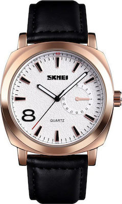 Skmei 1466 Rose Gold Leather