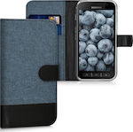 KW Wallet Δερματίνης Dark Blue / Black (Galaxy Xcover 4)