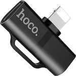 Hoco Lightning male - Lightning / USB-C female Black (LS20)