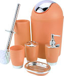 Bathroom Set 6 Piece Accessory (Orange)