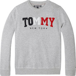 d273a2c892fe Tommy Hilfiger Tommy Jeans Kid's Towelling Logo Jumper KB0KB04259-004 Grey  Heather