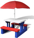 vidaXL Picnic Table with Umbrella