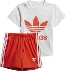 32b1535e7738 Adidas Originals Kid s Trefoil Shorts Tee Set DV2814