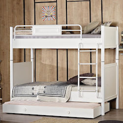 bb33da903e2 Κουκέτα Elit με Συρόμενο Κρεβάτι Κουκέτα Λευκό/Λευκό με Συρόμενο Κρεβάτι