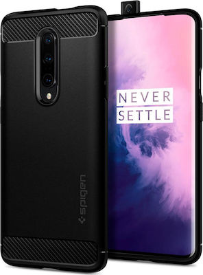 Spigen Rugged Armor Back Cover Σιλικόνης Μαύρο (OnePlus 7 Pro)