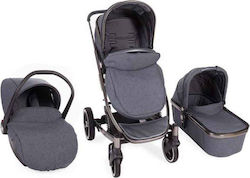 Kikka Boo Divaina 3 in 1 With Extra Port Bebe Dark Grey Melange