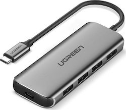 Ugreen Type C USB 3.1 Hub Adapter with 4 USB 3.0 PD Charging Ports