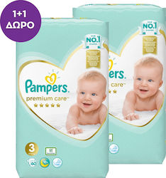 Pampers Premium Care No 3 (6-10kg) 2x60τμχ