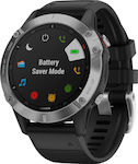 Garmin Fenix 6 (Silver with Black Band)