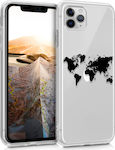 KW World Map Back Cover Σιλικόνης Διάφανο (iPhone 11 Pro)