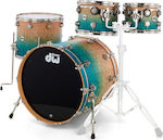 DW Drums Collector's Exotic Maple Natural to Regal Blue
