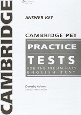Cambridge PET Practice Tests Answer Key