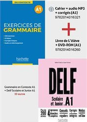 Super Pack Delf a1 Scolaire & Junior + Exercices de Grammaire en Contexte a1 (+mp3+corriges) 2nd Edition