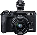 Canon EOS M6 Mark II Kit (EF-M 15-45mm f/3.5-6.3 IS STM + EVF) Black
