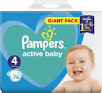 Pampers Active Baby Νο 4 (9-14kg) 76τμχ