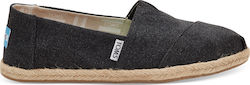 Toms Classic Alpargatas Washed Rope 10009751 Black