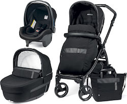 Peg Perego Book 51 Jet Elite Modular 3 in 1 Ergonomic Handle Completo Rock Black