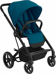 Cybex Balios S Lux Black Frame Seat River Blue Gold Edition