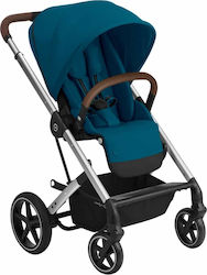 Cybex Balios S Lux Silver Frame Seat River Blue Gold Edition