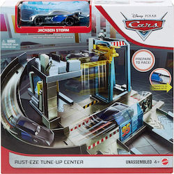 Mattel Cars Rust-eze Tune-up Center with Jackson Storm and Play Areas
