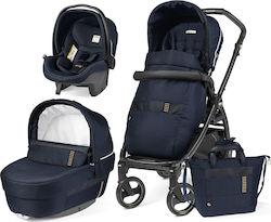 Peg Perego Book 51 Jet Elite Modular 3 in 1 Ergonomic Handle Completo i-Size Rock Navy