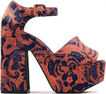 Jeffrey Campbell Candice Orange / Blue