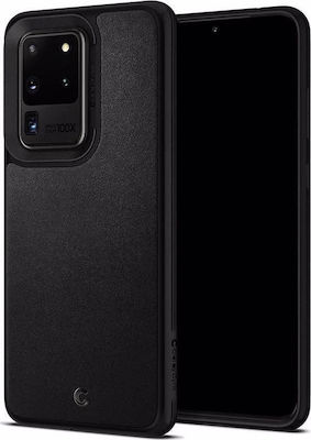 Spigen Ciel Leather Brick Back Cover Μαύρο (Galaxy S20 Ultra)