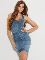 Φόρεμα Guess W02K29D3ZT1 Denim