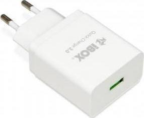 iBox 1x USB Wall Adapter Λευκό (ILUQC1W) - Πληρωμή και σε έως 36 Δόσεις!!!
