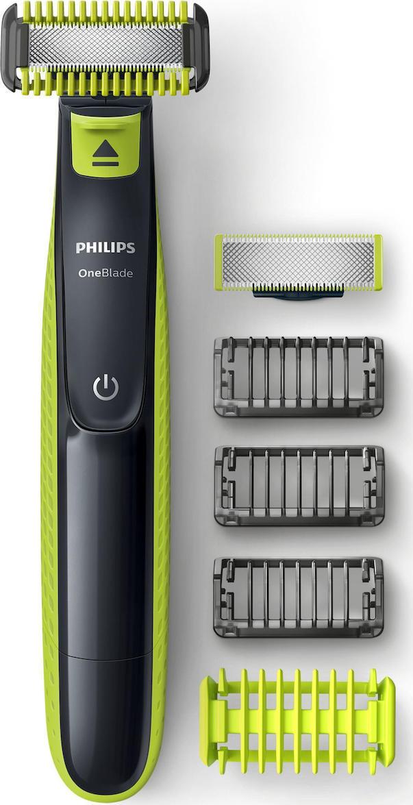Philips Norelco Oneblade Beard Trimmer Wet & Dry Black Green Lime (QP2620/20) - Πληρωμή και σε έως 36 Δόσεις!!!