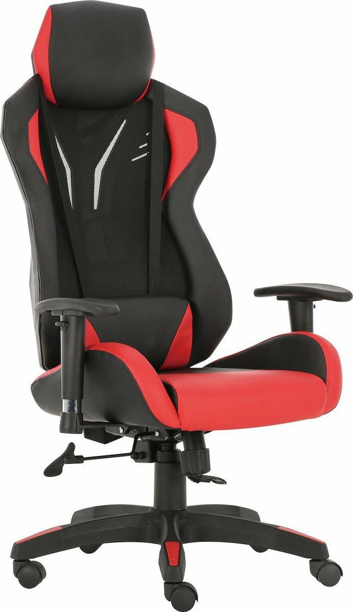 ES Market Καρέκλα Γραφείου ΑΝΔΡΟΜΑΧΗ Κόκκινο PVC/PU 67x65x123-131cm