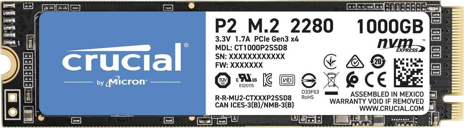 Crucial P2 1TB - Skroutz.gr