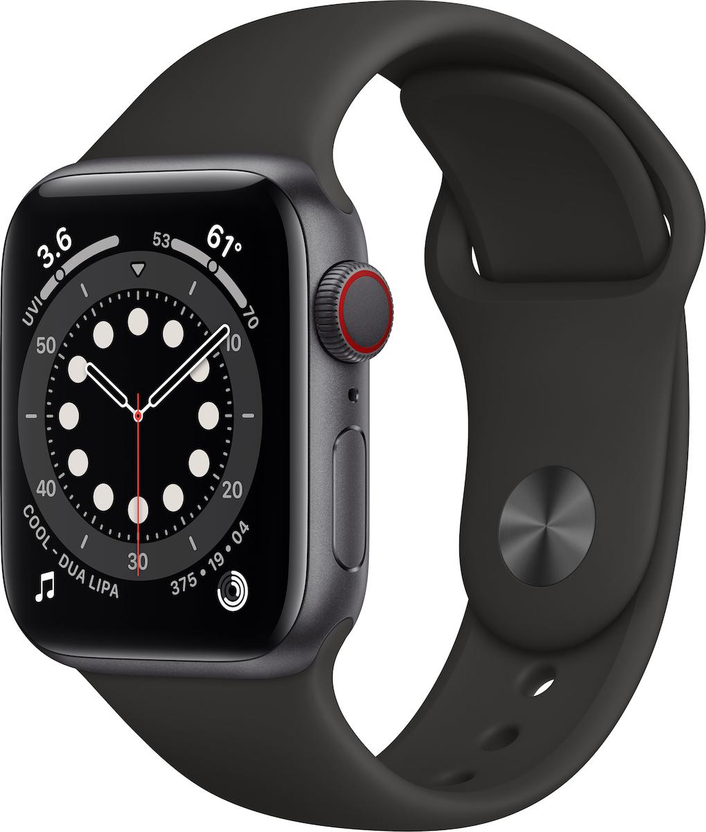Apple Watch Series 6 Aluminium Cellular 40mm (Space Gray) (M06P3WB/A) - Πληρωμή και σε έως 36 Δόσεις!!!