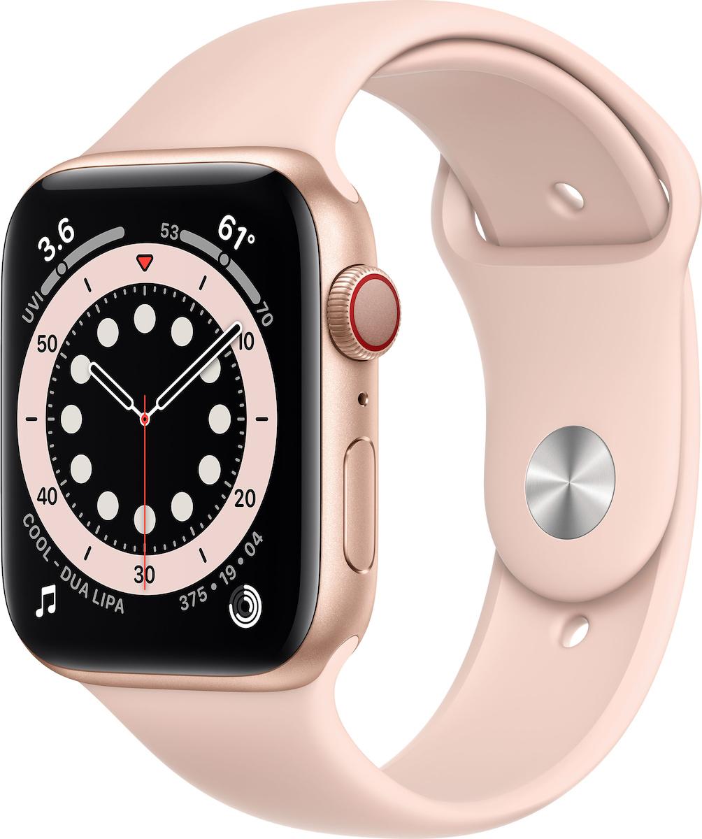 Apple Watch Series 6 Aluminium Cellular 40mm (Gold Pink) (M06N3WB/A) - Πληρωμή και σε έως 36 Δόσεις!!!