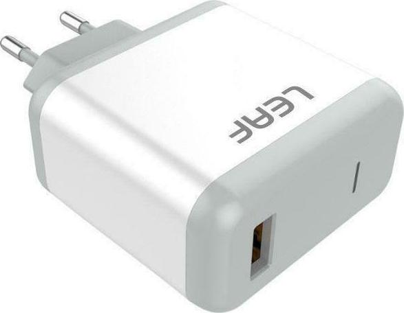 Leaf USB-C Cable & Wall Adapter Λευκό  (LF-U8c) - Πληρωμή και σε έως 36 Δόσεις!!!